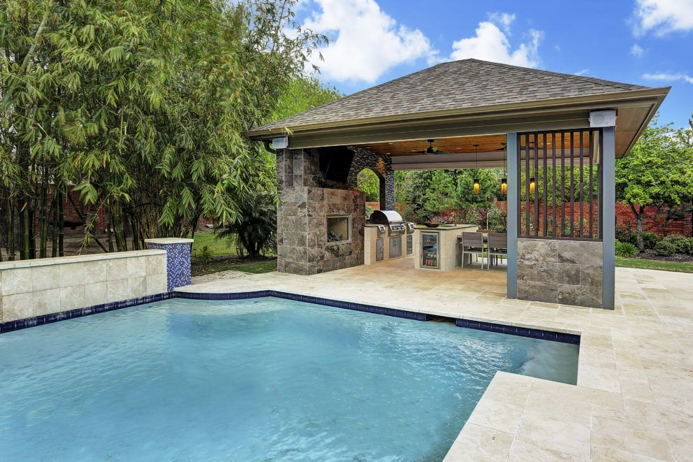Image Result For Modern Outdoor Kitchens Pool With Images Pool Cabana Backyard Seating Outdoor Living