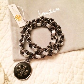 Tory Burch Leather & Chain Bracelet $86