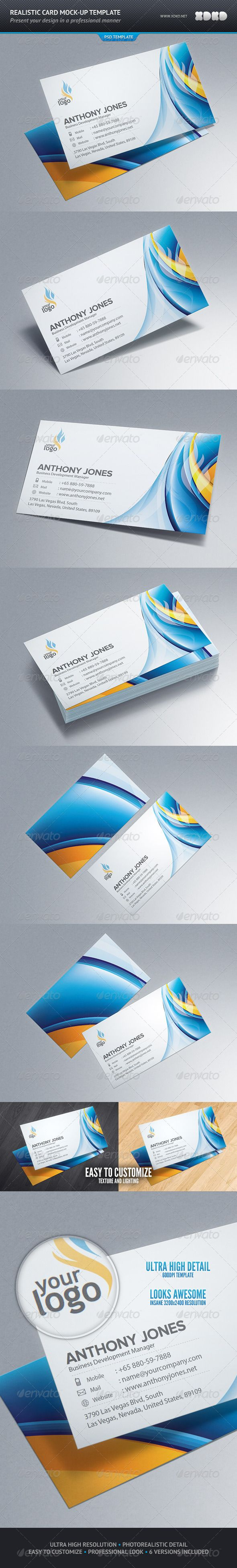 Photorealistic business card mockup template mockup business photorealistic business card mockup template graphicriver item for sale colourmoves