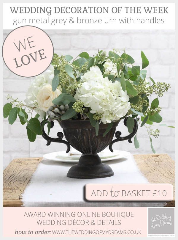 Gun metal grey bronze urn wedding centrepiece pinterest gun metal grey and bronze urn wedding centrepiece available to buy online from theweddingomd junglespirit Image collections