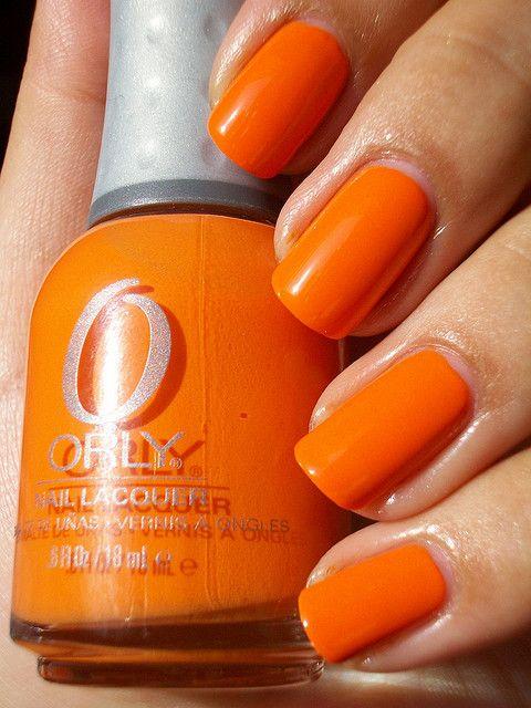 Orly Sol Cabana Orange Nails Nail Polish Nails
