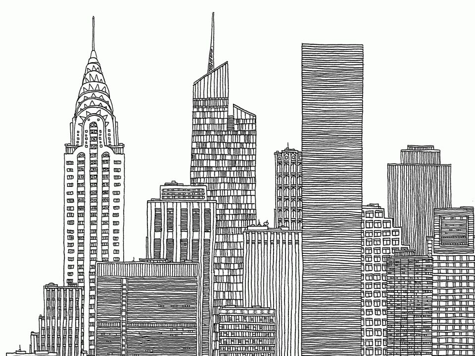 16+ New York City Landscape Drawing Scenery Drawing in