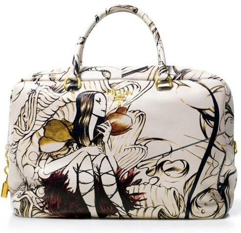 93054da67f83 prada fairy bag art by james jean my beautiful fairy bag! My fave purse  ever!!