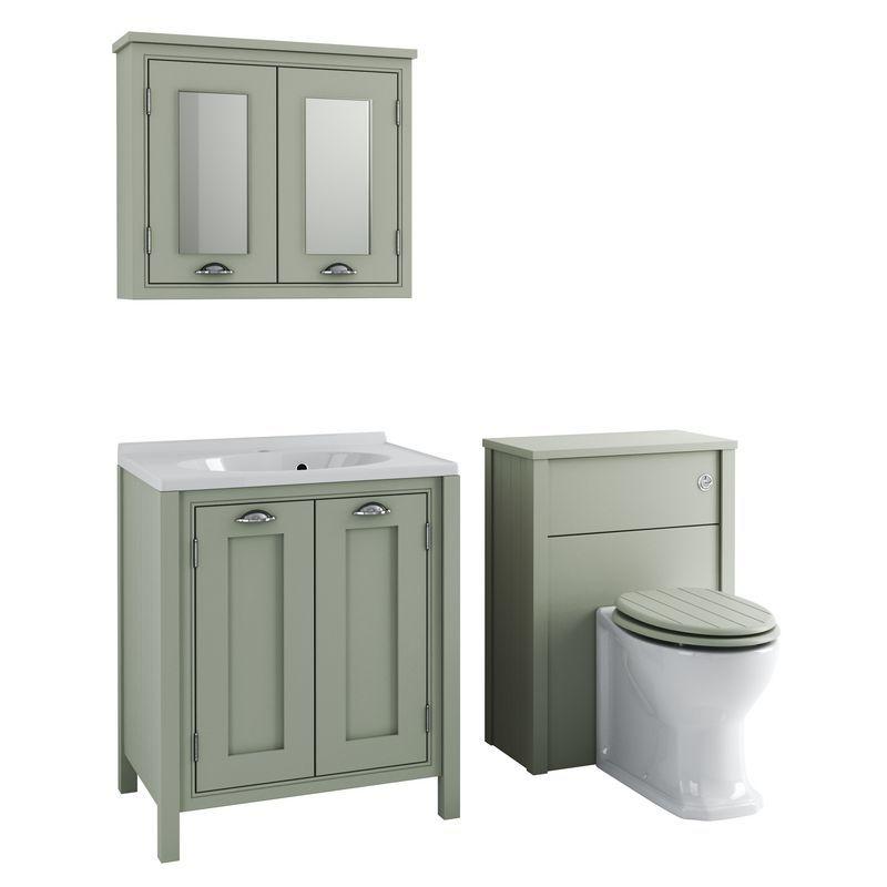 Buy Delamere Furniture Suite Excl Taps Pistachio At Screwfix