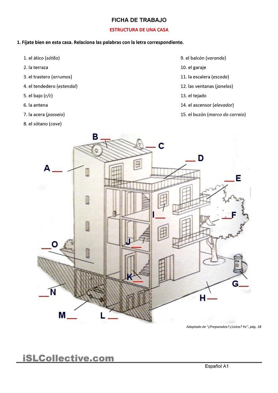 Estructura De Una Casa Fichas De Trabajo Casa Espanola Muebles Para Casa