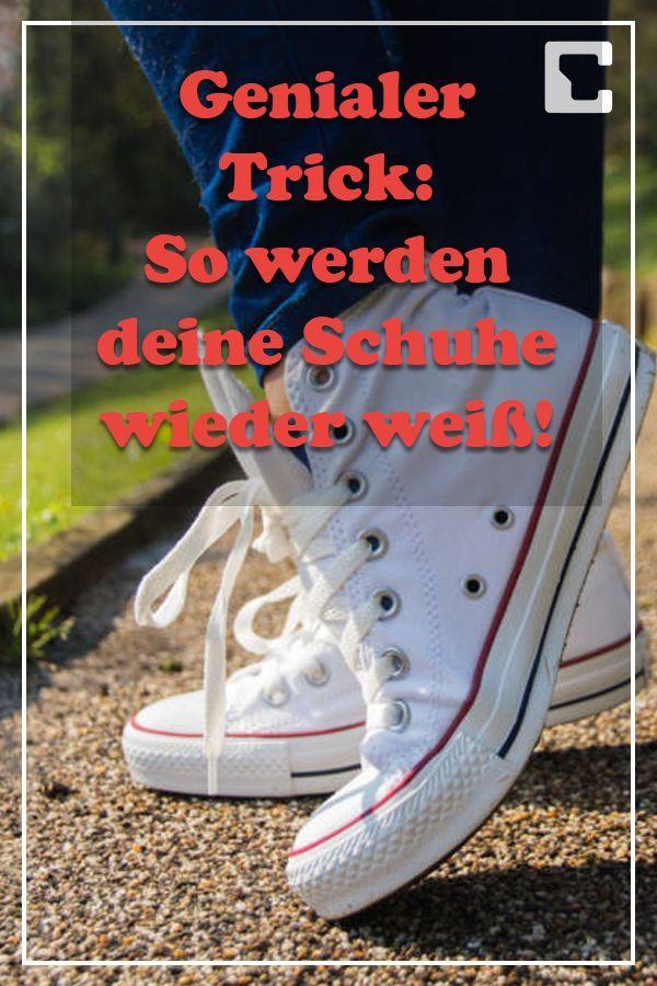 29e51fd713e883 Genialer Schuh-Trick  So bleiben weiße Schuhe weiß -  bleiben  Genialer