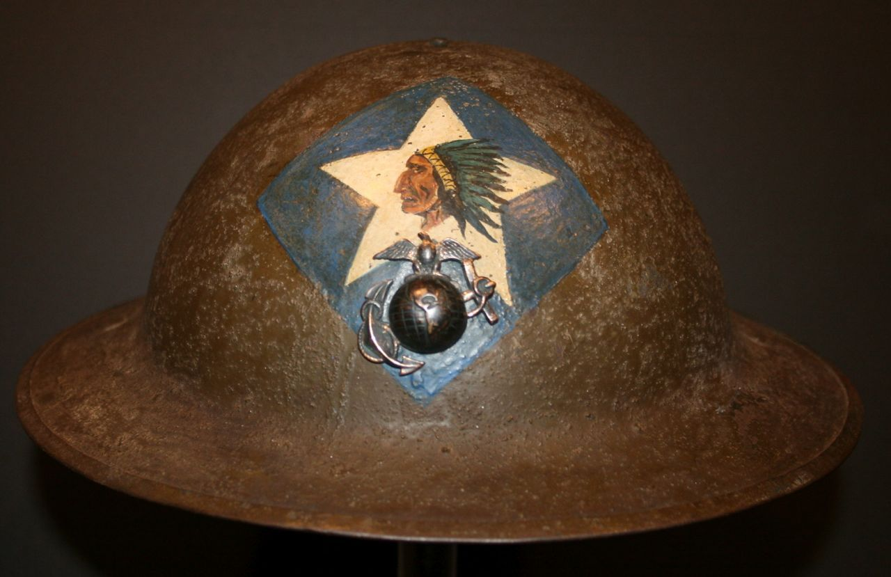 c416bcca7d880 WW1 3/6 Marine Helmet - STEEL AND KEVLAR HELMETS - U.S. Militaria ...