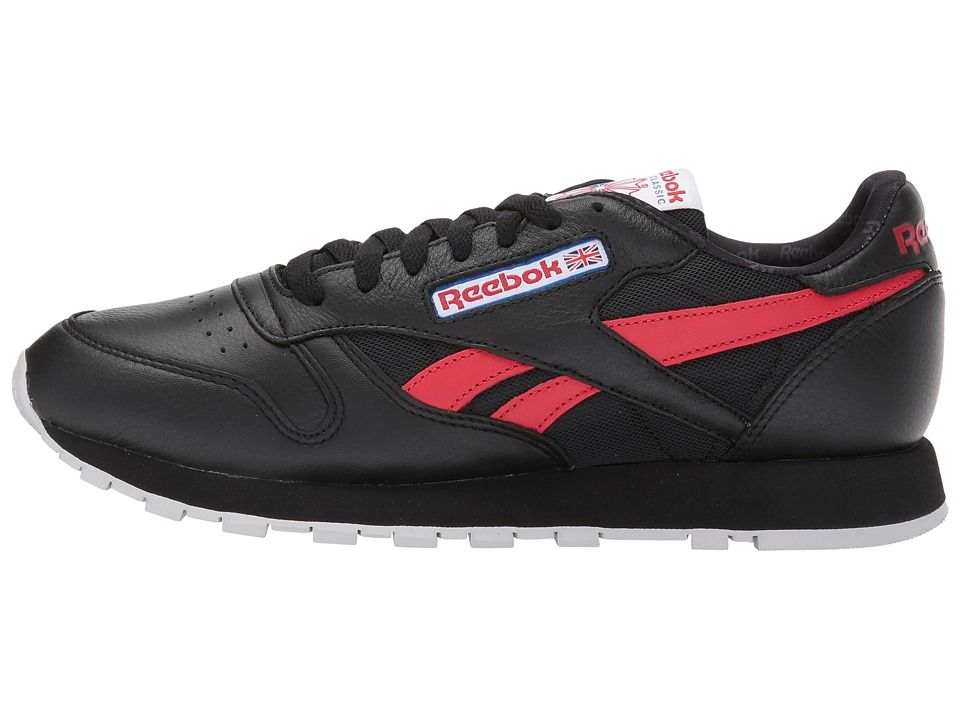ab64d83ad88 Reebok Lifestyle Classic Leather SO Men s Classic Shoes Black White Light  Solid Grey Vital Blue Primal Red
