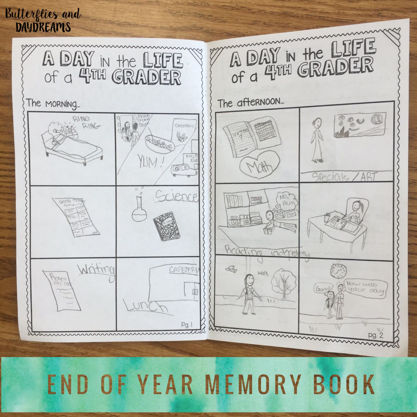 End Of Year Activities 4th Grade Fourth Favorites Literacy