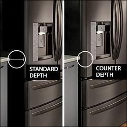 Counter Depth Refrigerator Vs Standard Size Google Search Counter Depth Refrigerator Counter Depth Refrigerator