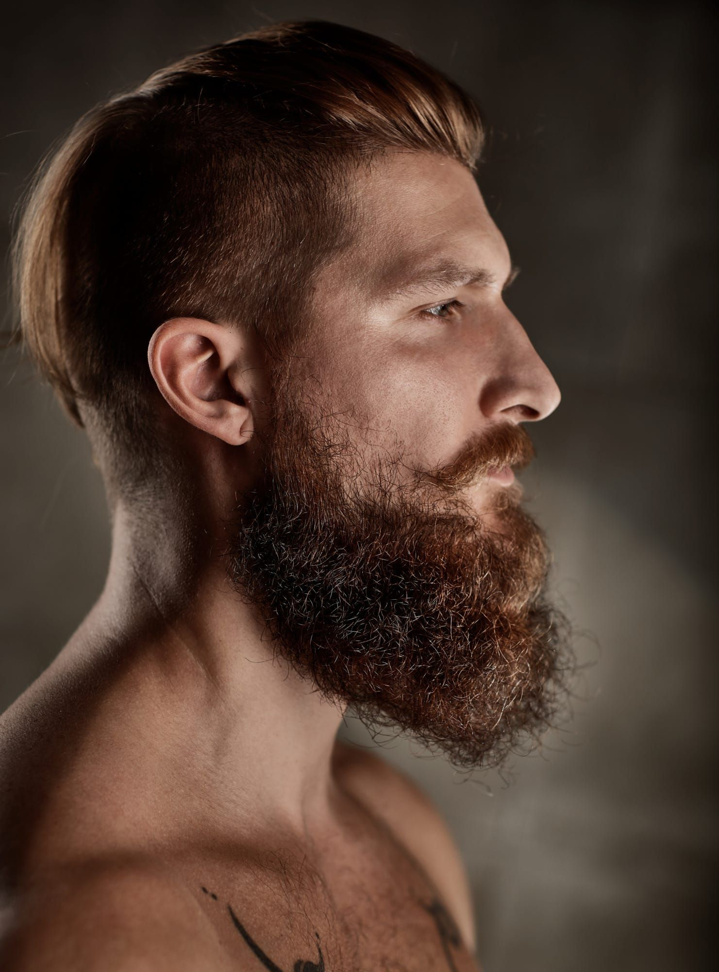 Portrait of bearded man, side view. | Photography ...