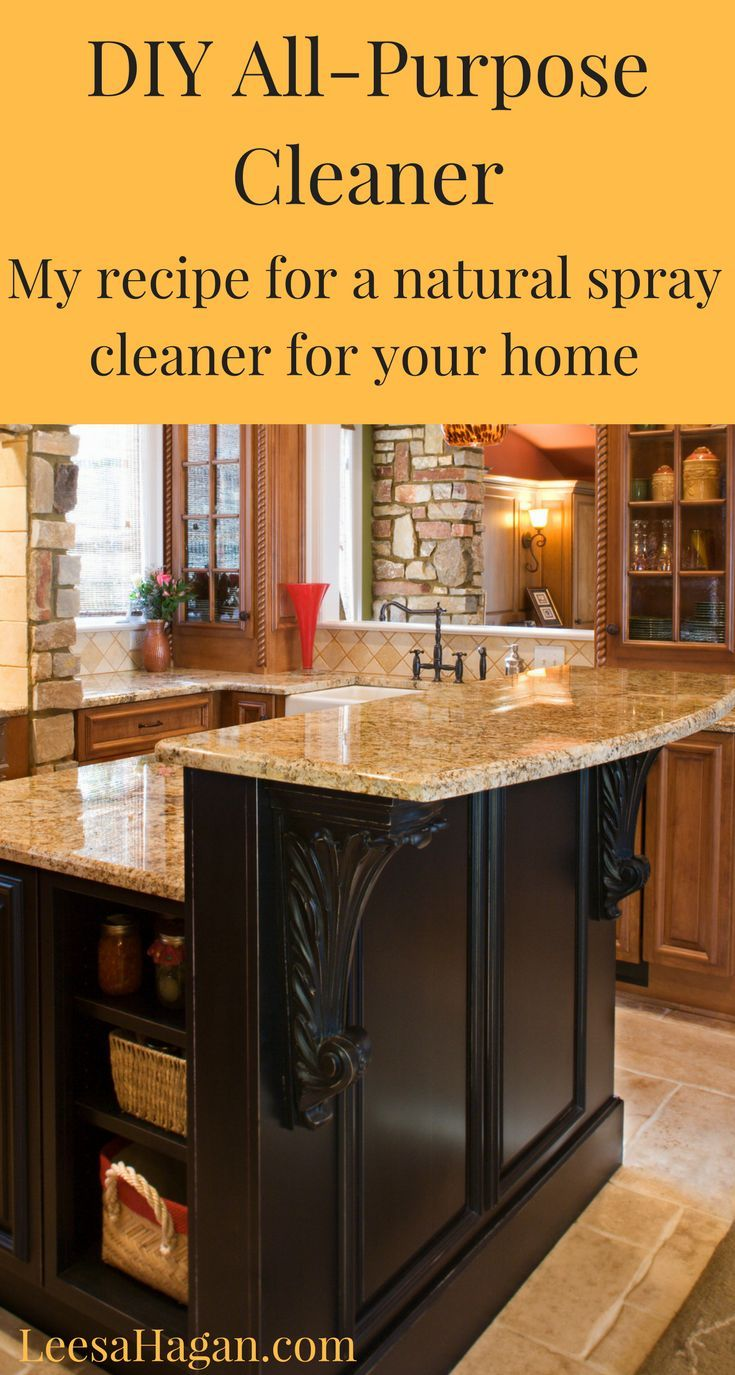 AllPurpose Homemade Kitchen Counter Cleaner Recipe