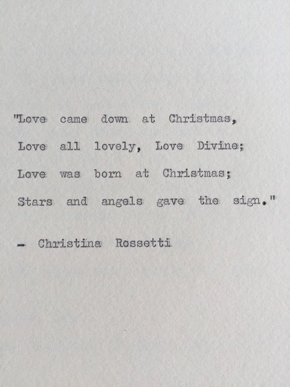 Image of: Cigarette Case Christina Rossetti Christmas Typewriter Quote By Bookishgifts On Etsy Pinterest Christina Rossetti Christmas Typewriter Quote By Bookishgifts On