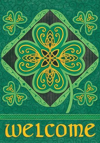 Custom Decor Flag - Celtic Clover Decorative Flag at Garden House Flags at GardenHouseFlags