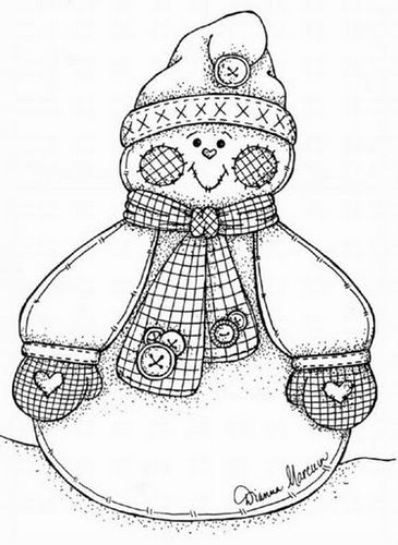 risco_boneco_de_neve_24 | Navidad, Molde y Nieve