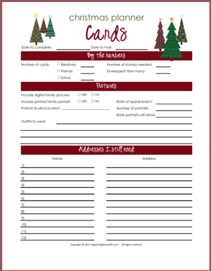 Christmas Card Newsletter Planning Printables Organizing Homelife Christmas Planner Printables Christmas Planner Christmas Planning
