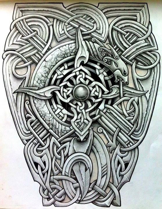 Knotty Inks Custom Celtic Tattoo Design Tatu So Skandinavskoj