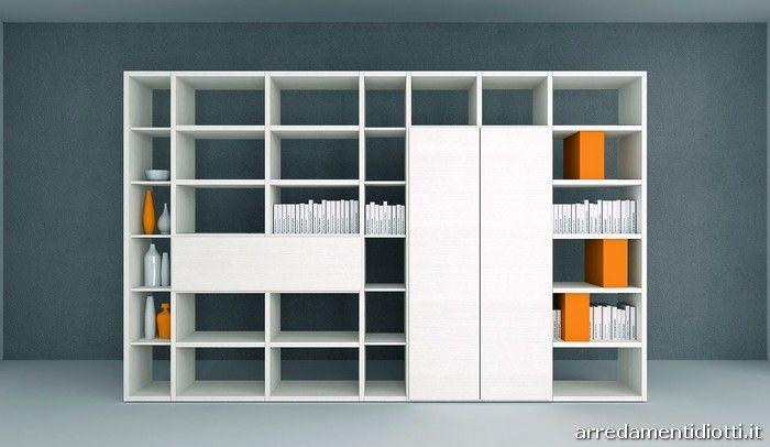 Libreria My Space bifacciale divisorio - DIOTTI A&F Arredamenti ...