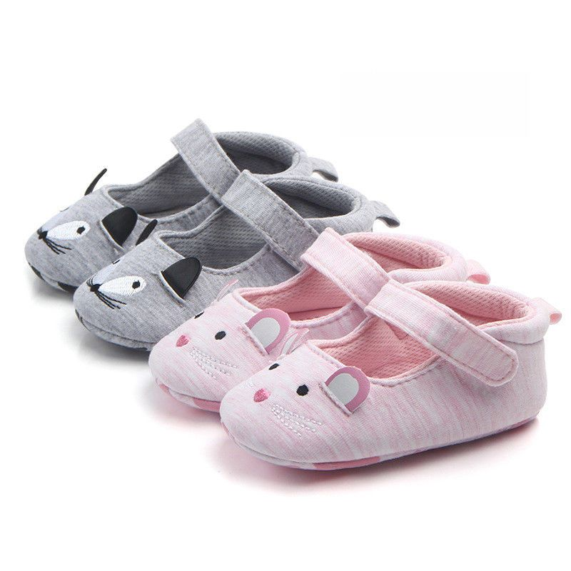 Voberry Cute Baby Girl Boys Canvas Crib Shoes T-tied Soft Prewalker Sandals