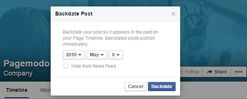 Why To Use Caution When #Backdating Posts on #Facebook