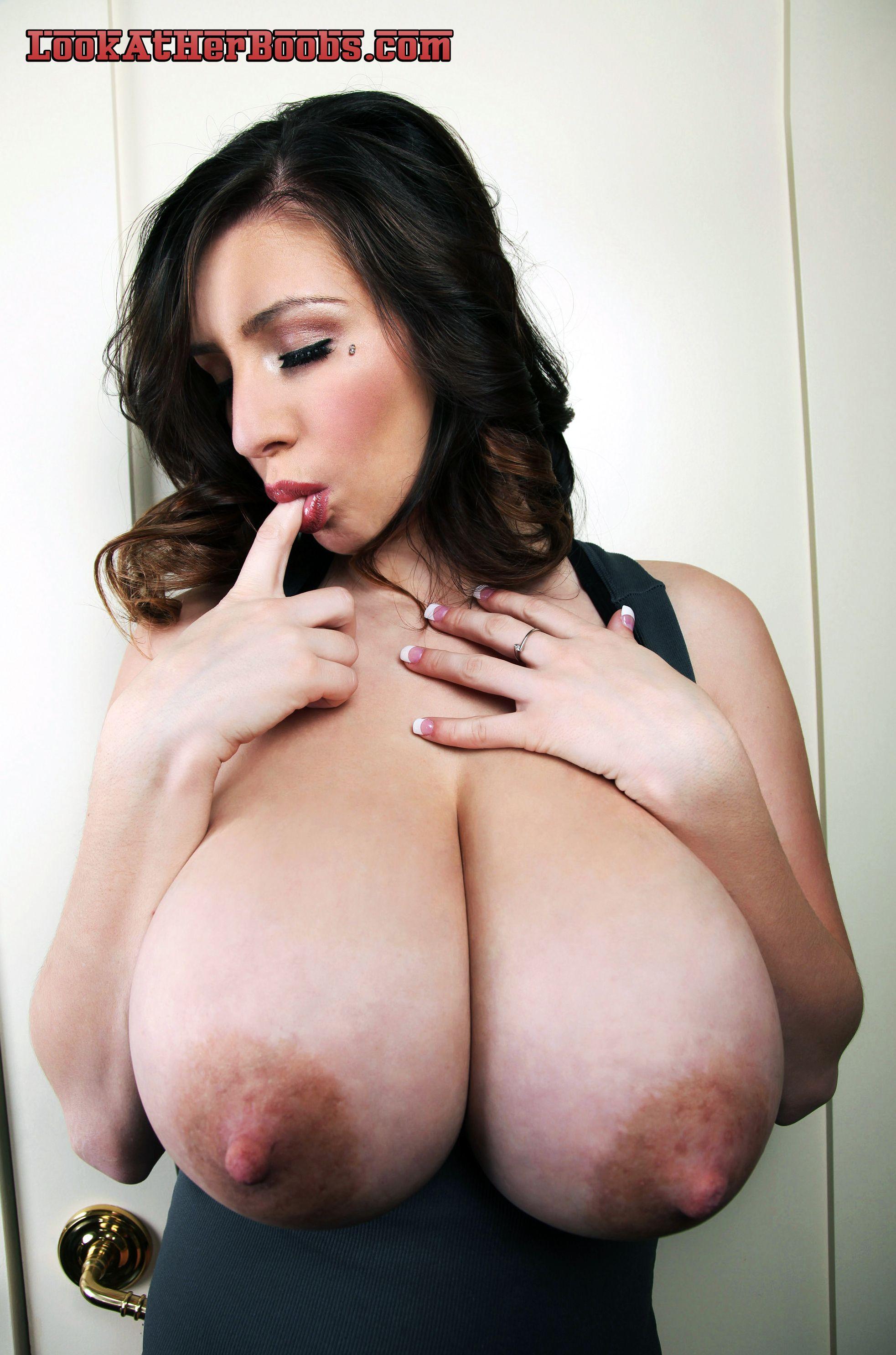Plz Squeezing huge boobs need