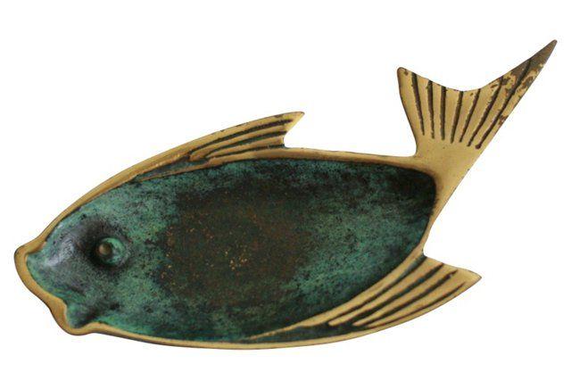 Dayagi Brass Fish Trinket Dish