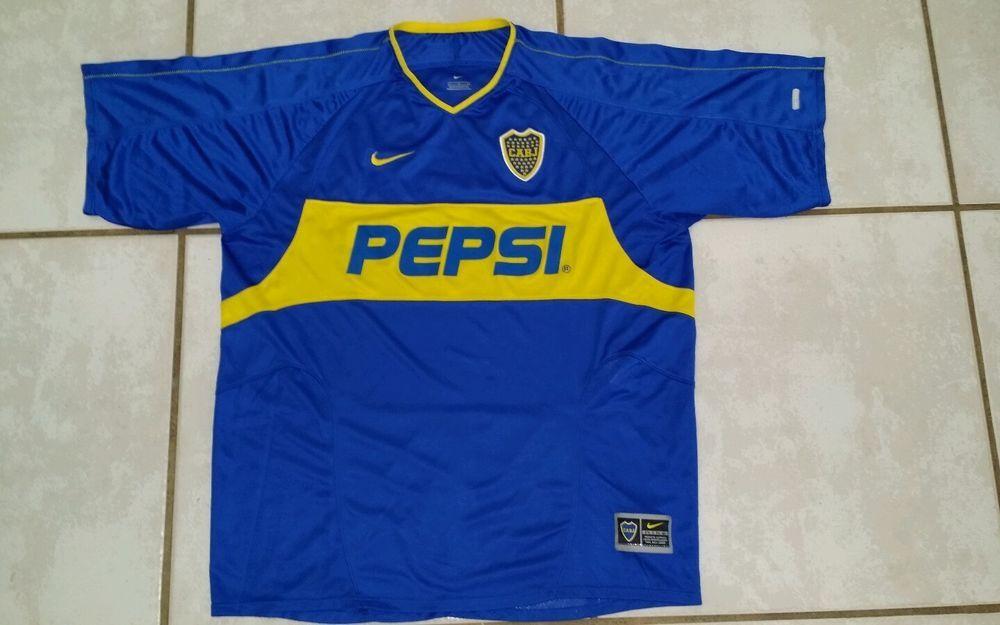 bb83b4ae747 Vintage NIKE Boca Juniors 2003/2004 Home Soccer Jersey Men's Large #Nike  #BocaJuniors