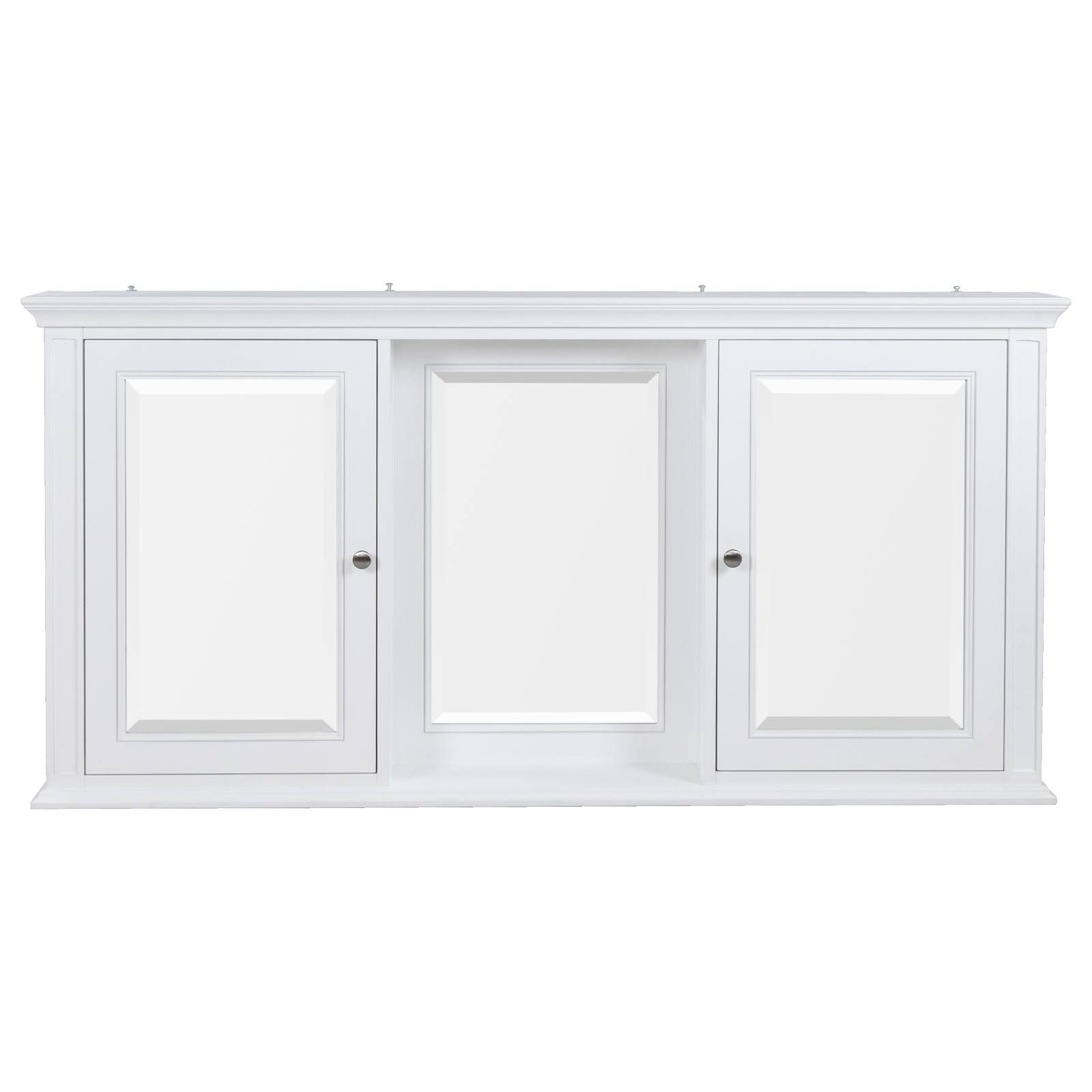 Sherbrooke Mirror Cabinet 3 Mirror 2 Doors White Mirror Cabinets Bathroom Medicine Cabinet Mirror Big Bathrooms