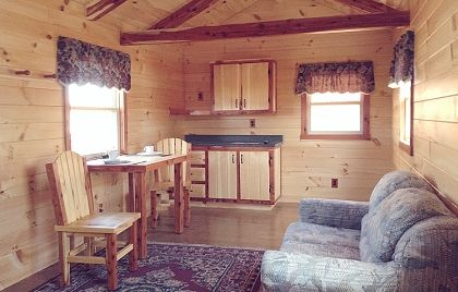 Portable Cabin Interiors 12x32 Hunter Displayed At Our