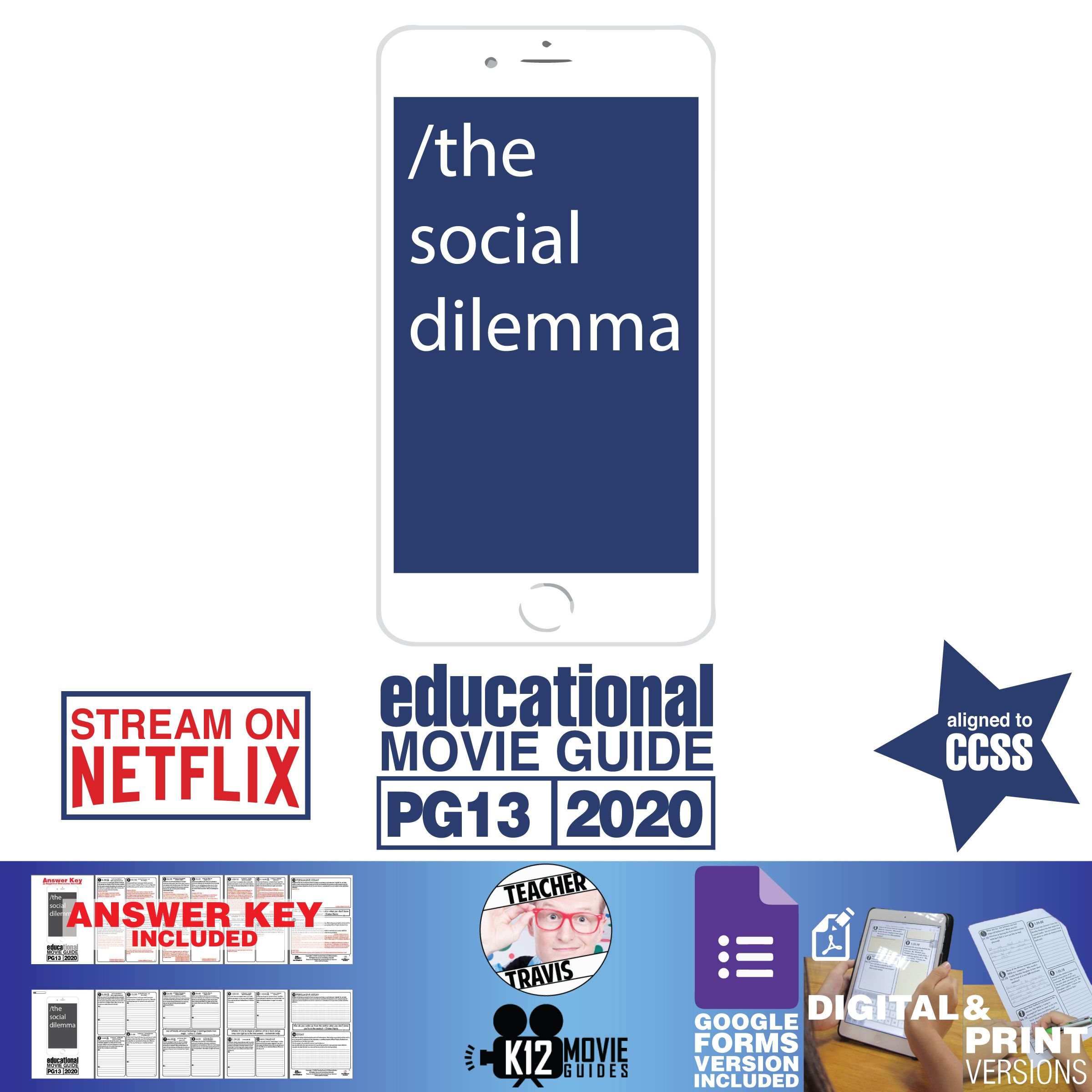 The Social Dilemma Documentary Movie Guide Questions Worksheet Pg13 2020 Movie Guide This Or That Questions Documentary Movies