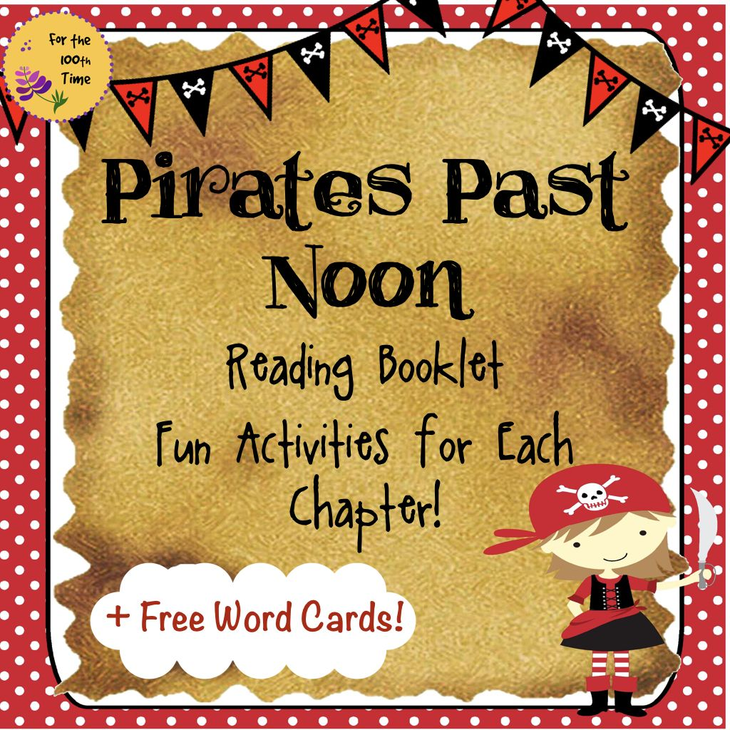 Pirates Past Noon Booklet Fun Activities Free Word Cards