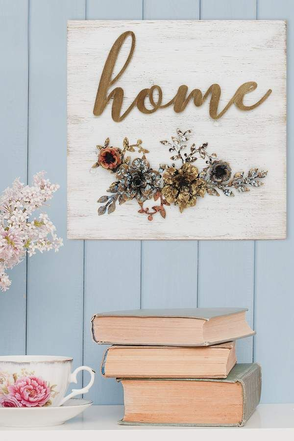 Add charm to your home with Home Cottage Wall Art. This charming ...