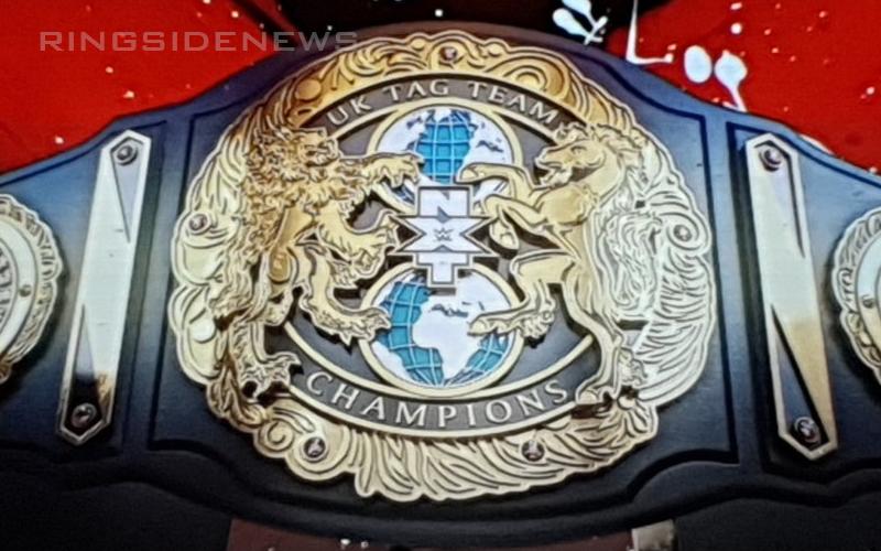 Wwe Reveals New Nxt Uk Tag Team Titles Wwe Belts Wwe Championship Belts Wwe