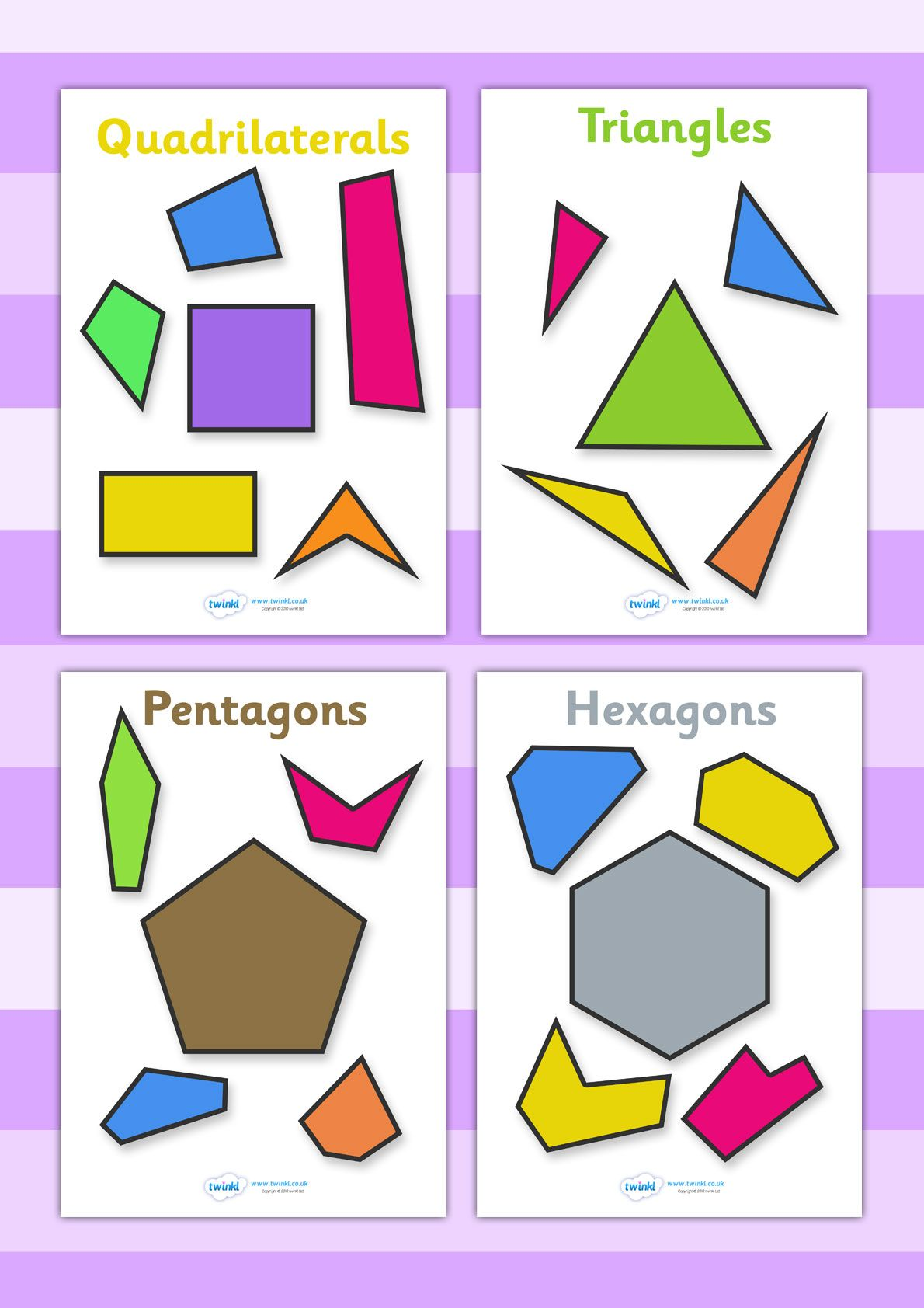 2d Geometric Shapes Chart Twinkl Resources Gt Gt 2d Regular And Irregular Shapes
