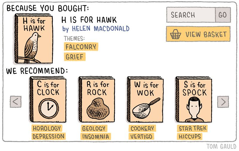 Tom Gauld - H is for Hawk  YOU'RE ALL JUST JEALOUS OF MY JETPACK
