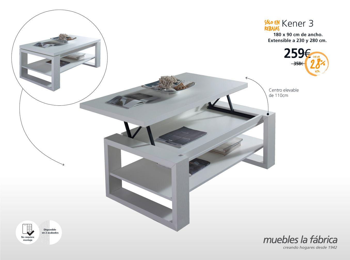 Si eres de los que come siempre delante del TV, sentadito cómodamente en tu sofá, entonces necesitas una KENER:   - KENER 3: http://bit.ly/1O0bfQ6  #mesa de centro #revistero