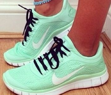 shoes running shoes mint green shoes style fashion dress nike running shoes  nike shoes nike sneakers nike free run nike air running workout shoes  hippie ...