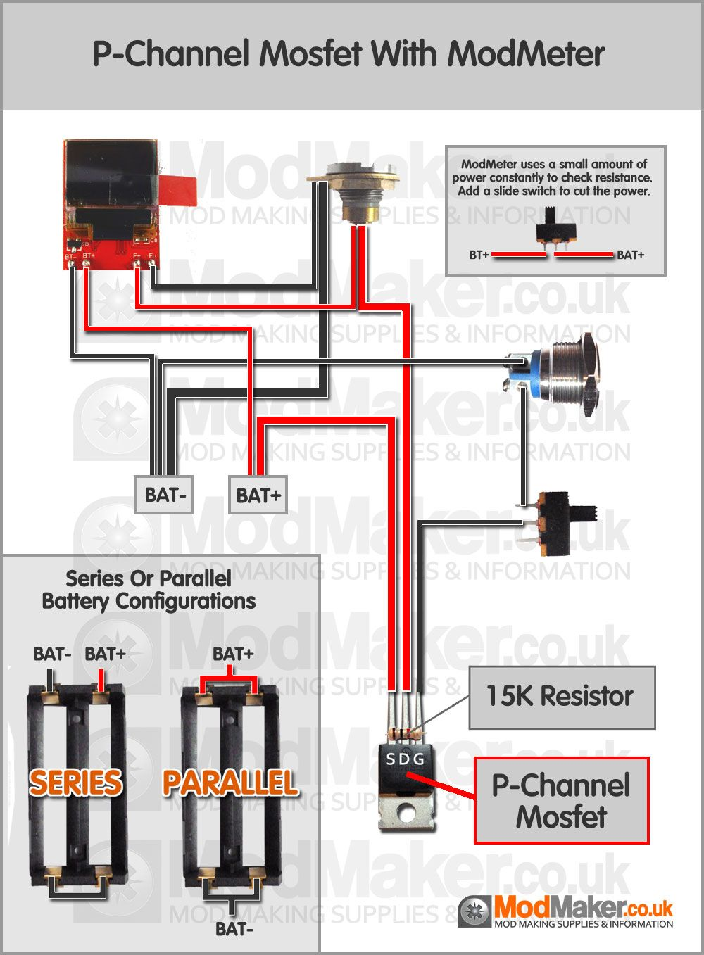 medium resolution of p channel mosfet with modmeter wiring diagram find this pin and more on vape