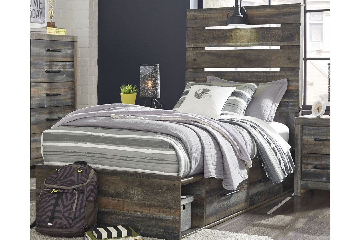 Drystan Queen Panel Bed with 4Storage Ashley HomeStore