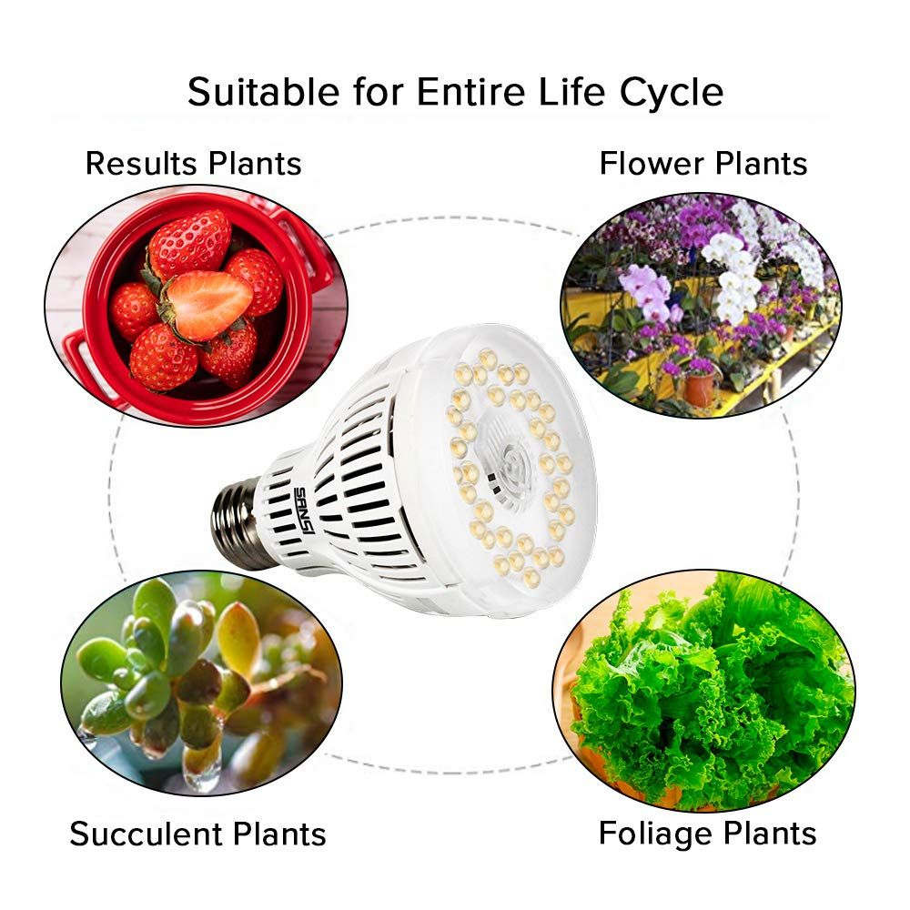 Sansi 15w Led Grow Light Bulb You Can Get More Details By Clicking On The Image It Is An Affili In 2020 Led Grow Light Bulbs Led Grow Lights Plants Grow