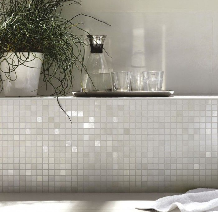 mozaïek concreta marazzi: mooie kleur - badkamer en mozaïektegels, Badkamer