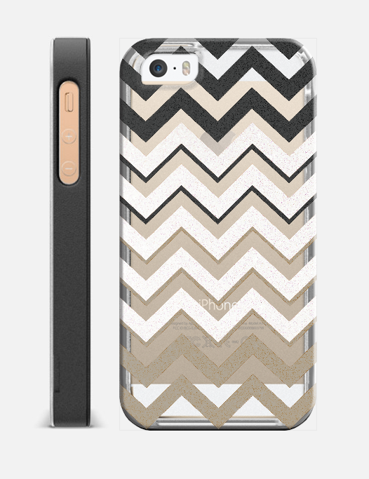 BLACK SILVER NUDE CHEVRON IV Crystal Clear Case Edit $39 95 Free