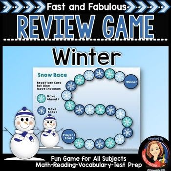This winter snowman theme game is perfect for sight word practice ...
