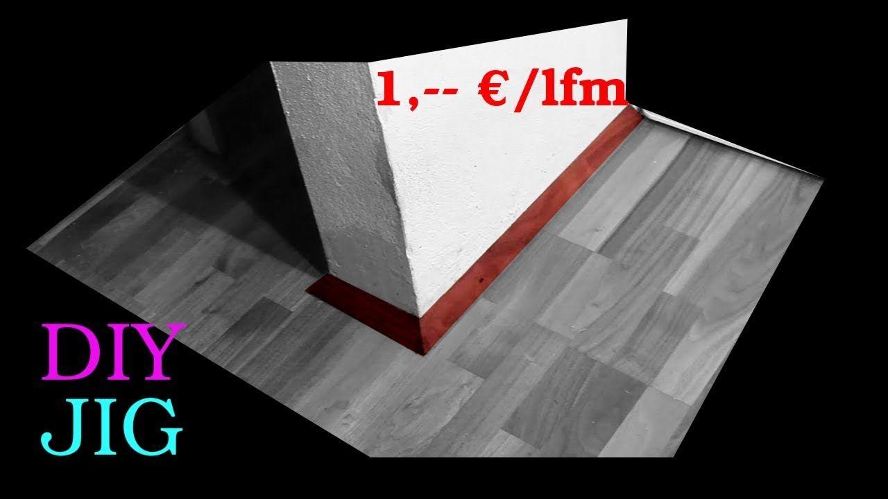 Fußbodenleiste fußbodenleiste aus fertigparkett selber machen diy jigs