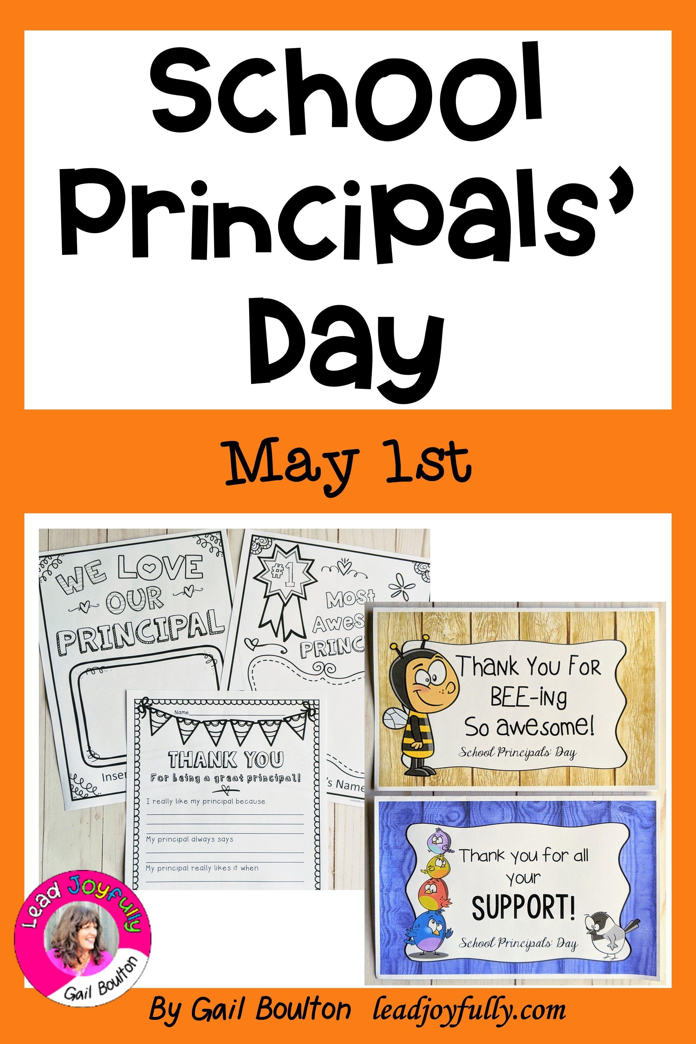 School Principals Day May 1st In 2020 Principals Day School