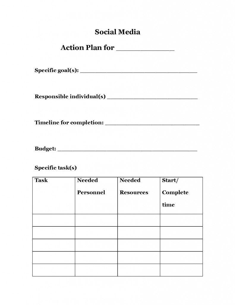 strategic planning action plan template Google Search – Task Action Plan Template