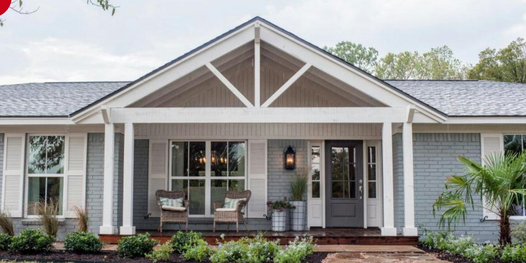 Open Gabled Porch Ranch House Exterior House Front Porch Exterior House Renovation