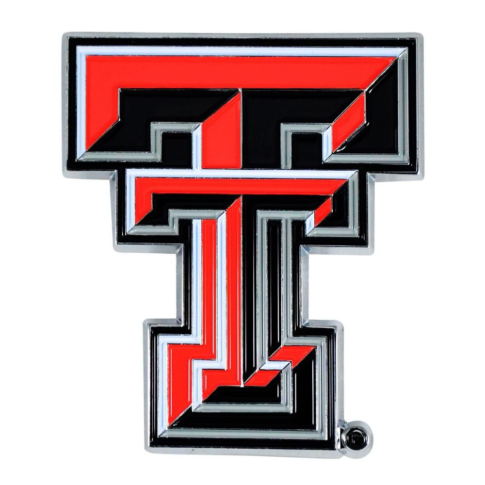 Fanmats 2 7 In X 3 2 In Ncaa Texas Tech University Color Emblem