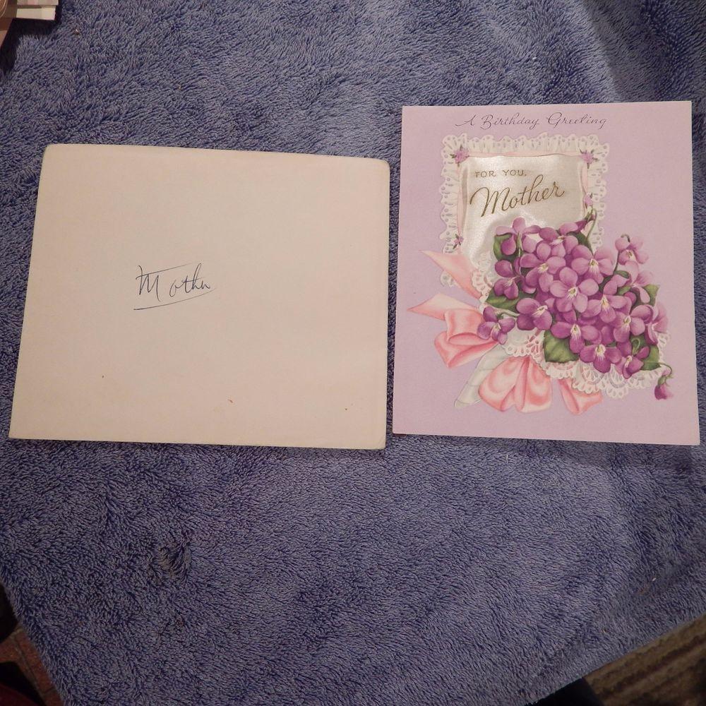 vintage birthday card american greeting 35ag 519j mother