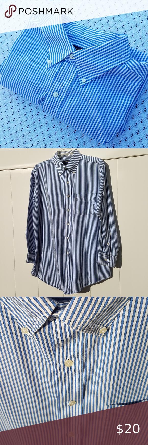 Club Room Easy Care Long Sleeve Button Down Shirt Club Room Easy Care Button Down Long Sleeve Striped Shirt With Bu In 2020 Mens Shirt Dress Button Down Shirt Shirts [ 1740 x 580 Pixel ]